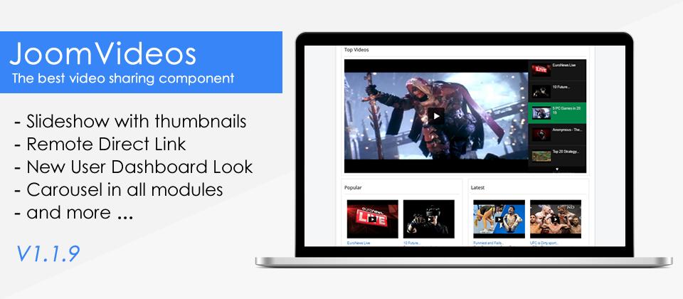 JoomVideos Component Updated v1.1.9