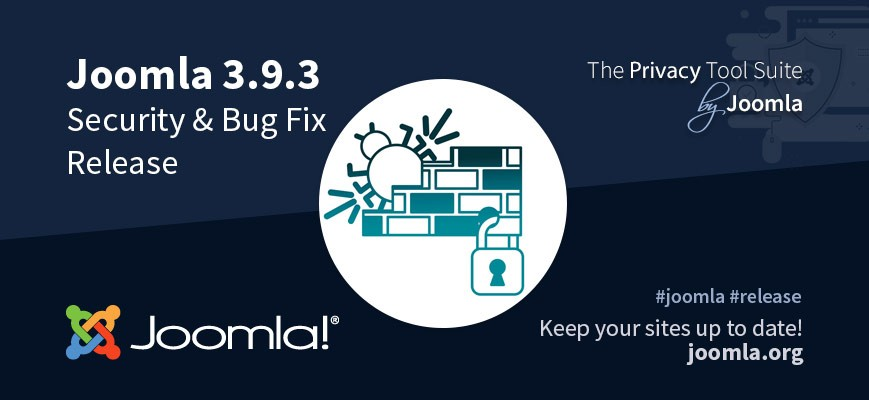 Joomla 3.9.3 - 6 security vulnerabilities and +30 bug fixes with improvements