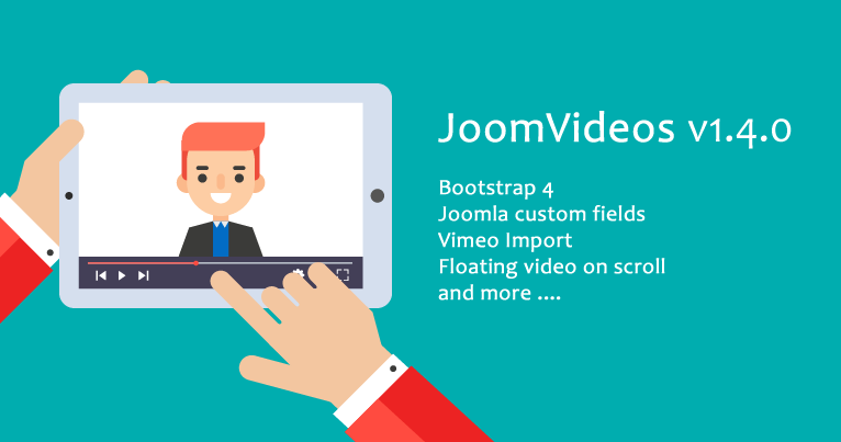 JoomVideos v1.4.0 with many new features and improvements