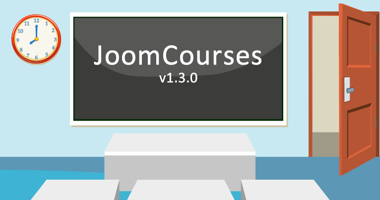 JoomCourses v1.3.0 - with 8 new features