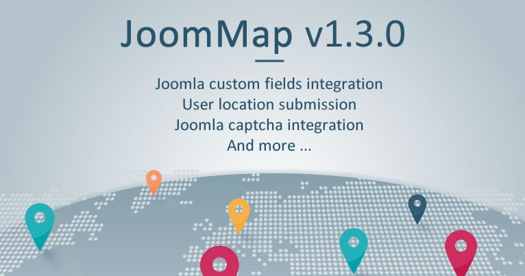 JoomMap v1.3.0 -  Joomla custom fields integration and more ...