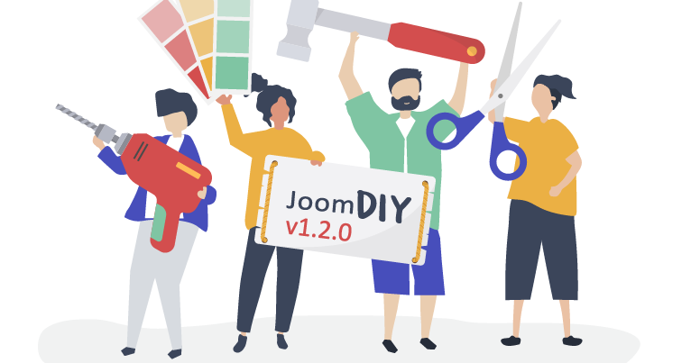 JoomDIY with Bootstrap 4 support