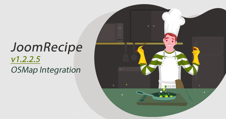 JoomRecipe and OSMap integration