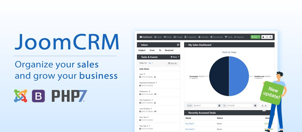 JoomCRM v1.1.3 with 10+ new features - Joomla CRM