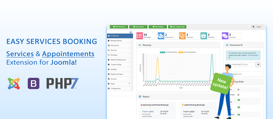 Easy Services Booking v1.1.7 - New dashboard and easy bookings management