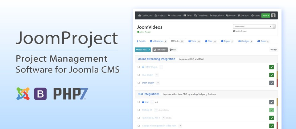 JoomProject v1.6 with 11 new features - Internal navigation, Fullscreen mode and more ...