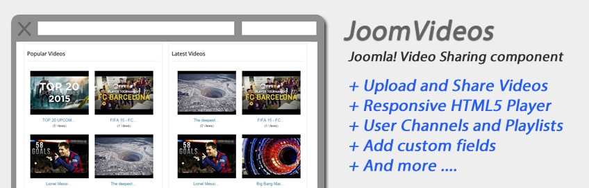 Introducing JoomVideos - Videos Sharing component