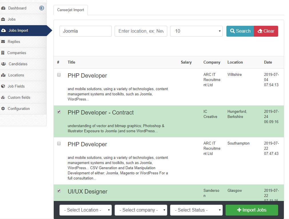 Easy Jobs Manager v1 2 - Bootstrap 4, CareerJet API, Salary Field