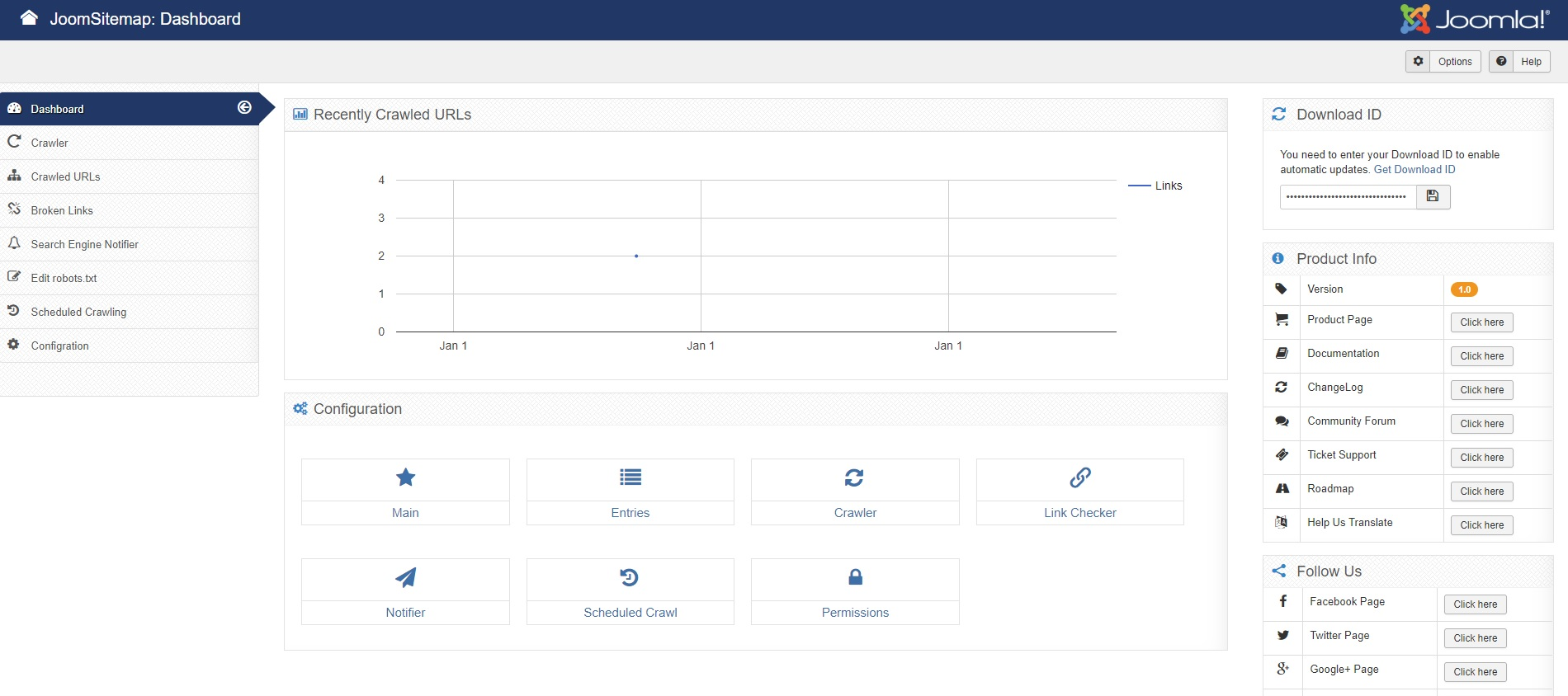 Backend dashboard